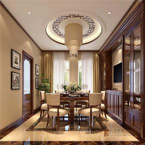 中式 别墅 复式 跃层 大户型 小资 餐厅图片来自高度国际姚吉智在首创国际半岛220㎡演绎中国经典的分享