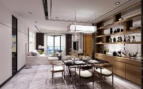 简约 欧式 混搭 三居 别墅 旧房改造 80后 餐厅图片来自陕西峰光无限装饰在龙腾万都汇的分享