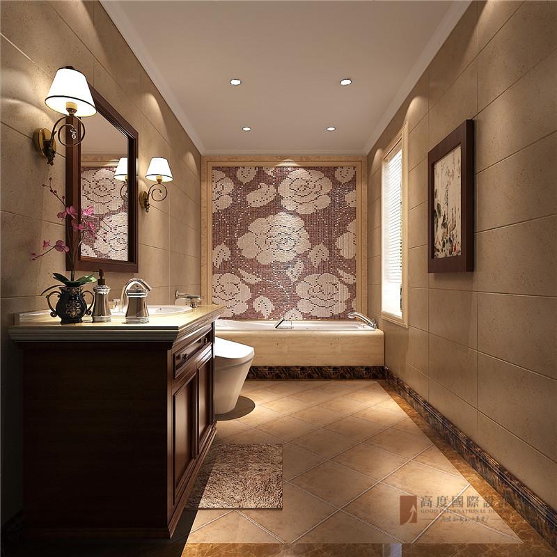 中式 别墅 复式 跃层 大户型 小资 卫生间图片来自高度国际姚吉智在首创国际半岛220㎡演绎中国经典的分享