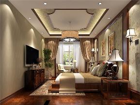中式 别墅 复式 跃层 大户型 小资 卧室图片来自高度国际姚吉智在首创国际半岛220㎡演绎中国经典的分享