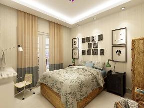 欧式 三居 峰光无限 卧室图片来自我是小样在金色家园三室122平方欧式风格的分享