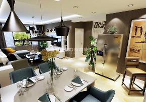 餐厅图片来自沈阳百家装饰小姜在外滩三号120平现代风格的分享