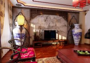 简约 欧式 混搭 田园 三居 收纳 80后 客厅图片来自沈阳百家装饰小姜在万科花园160平新中式风格的分享