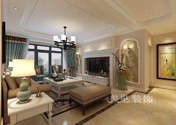 郑州升龙国际151平美式风装修