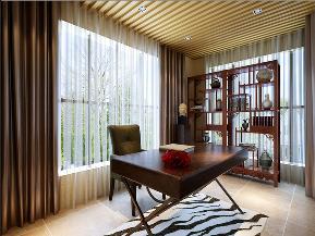 峰光无限装 中式装修 西安装修公 装修公司 书房图片来自陕西峰光无限装饰在富力城176㎡新中式的分享