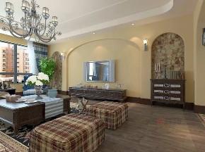 客厅图片来自沈阳百家装饰小姜在中海盛京府150平地中海风格的分享