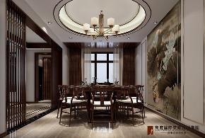 中式 餐厅图片来自高度国际设计小雅在龙山新新小镇的分享
