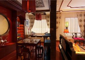 餐厅图片来自沈阳百家装饰小姜在万科花园160平新中式风格的分享