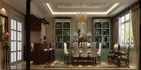美式 别墅 复式 跃层 大户型 高帅富 小资 餐厅图片来自高度国际姚吉智在金隅澜湾300㎡美式怀古浪漫情怀的分享