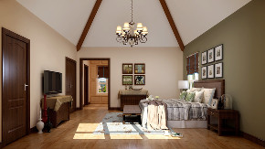 美式 简约 别墅 旧房改造 80后 卧室图片来自高度国际设计小雅在潮白河孔雀城伯顿庄园的分享