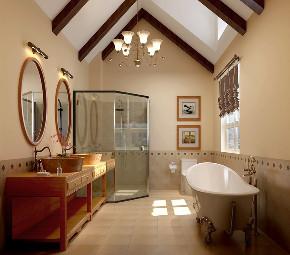 美式 简约 别墅 旧房改造 80后 卫生间图片来自高度国际设计小雅在潮白河孔雀城伯顿庄园的分享