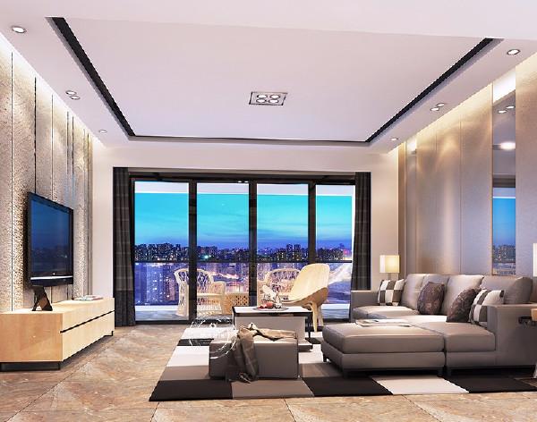 在客厅的设计中,现代港式风格以黄色为主色调,电视背景墙的精心设计和电视柜是整个空间的焦点,展现现代港式风格特有的装修习惯。