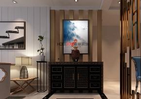 玄关图片来自沈阳百家装饰小姜在格林玫瑰湾126平新中式风格的分享