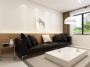 简约 现代 二居 收纳 小资 客厅图片来自阳光力天装饰在力天装饰-红星国际-82㎡-现代的分享