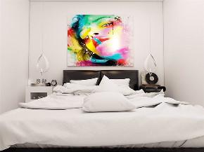 简约 现代 二居 收纳 小资 卧室图片来自阳光力天装饰在力天装饰-红星国际-82㎡-现代的分享