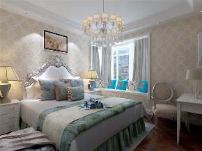 欧式 二居 收纳 小资 卧室图片来自阳光力天装饰在力天装饰-海景文苑-102㎡-欧式的分享