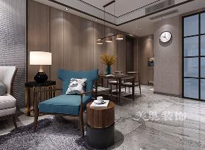 三居 现代简约风 餐厅图片来自河南美巢装饰在华润悦府110平现代简约装修效果的分享