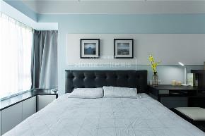 简约 现代 港式 四居 收纳 卧室图片来自四川欢乐佳园装饰在【设•界】他和她的蓝色现代生活的分享