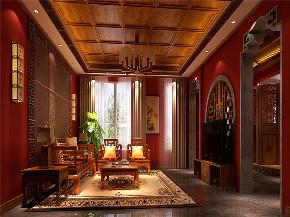 中式 别墅 大户型 跃层 复式 舒适 客厅图片来自高度国际姚吉智在龙山新新小镇800㎡新中式大宅的分享