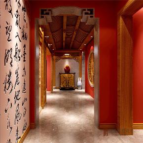 中式 别墅 大户型 跃层 复式 舒适 玄关图片来自高度国际姚吉智在龙山新新小镇800㎡新中式大宅的分享