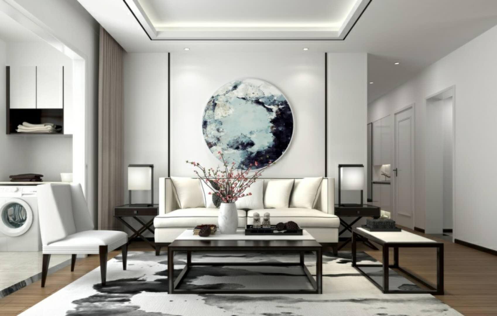 新中式客厅卫生间装修效果图片_装修美图-新浪装修网图片