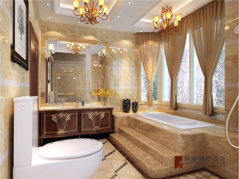 混搭 欧式 别墅 跃层 复式 大户型 中式 卫生间图片来自高度国际姚吉智在龙湖好望山200㎡混搭联排别墅的分享
