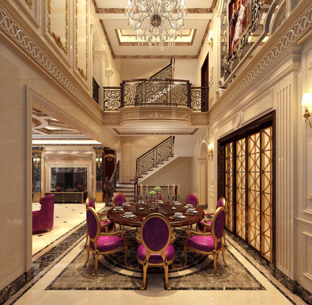 金大元玲珑宫廷别墅装修欧式古典风格设计,上海腾龙别墅设计师周峻图片