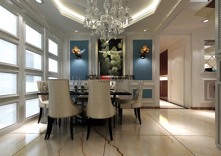 新古典风格 室内设计 沈阳装修 复式阁楼 厨房图片来自百家装饰--小莹在法兰香颂 240平新古典风格的分享