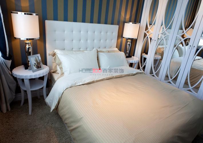 新古典风格 室内设计 沈阳装修 复式阁楼 卧室图片来自百家装饰--小莹在法兰香颂 240平新古典风格的分享