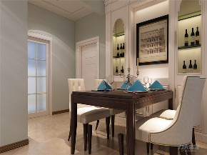 美式 两居室 色彩鲜明 温馨 餐厅图片来自阳光力天装饰在力天装饰-金地艺城华府-84㎡的分享
