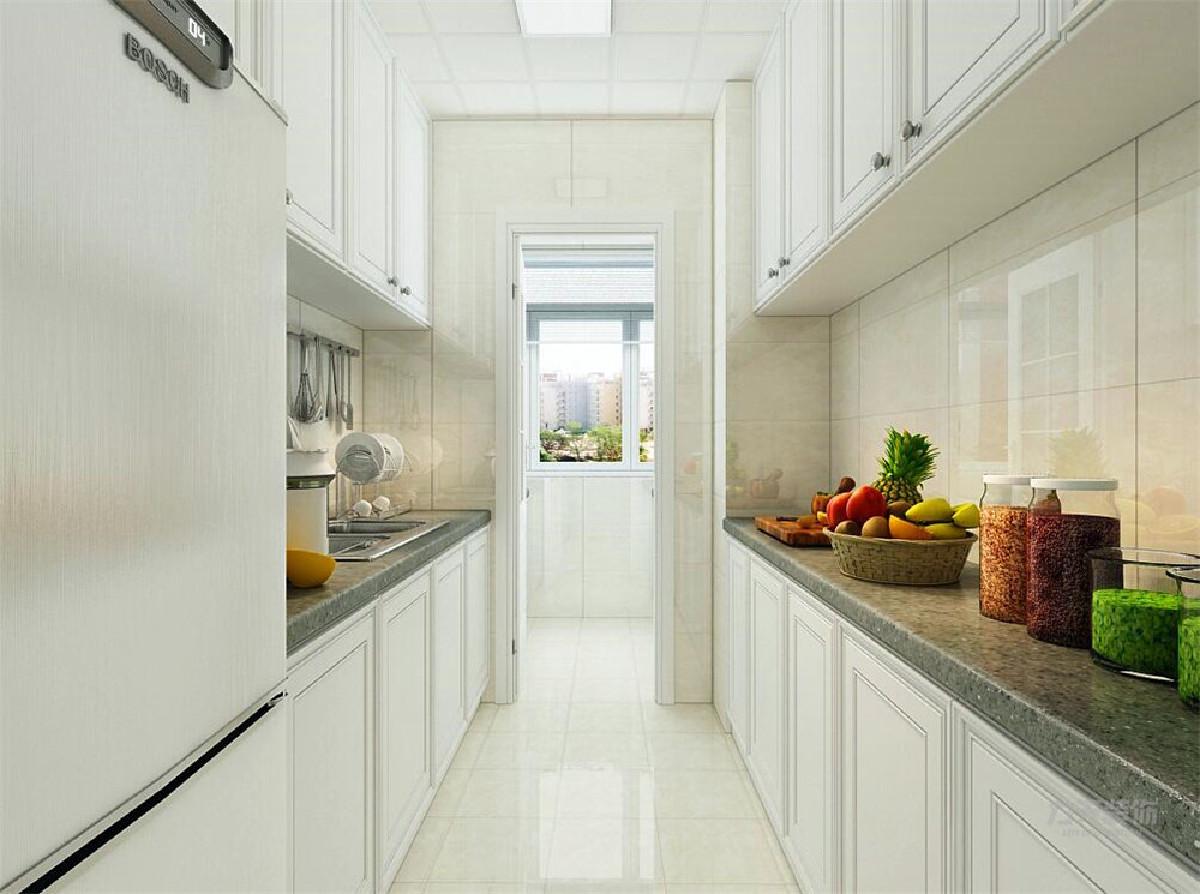 将厨房打开做了开放式的厨房,这样及加大了厨房的使用率还解决了原来暗厅的采光问题