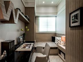 港式 二居 三居 大户型 复式 小资 80后 卧室图片来自高度国际姚吉智在122平米港式超然时尚的休憩港湾的分享