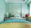 朝南的主卧室阳光很好,每天都可以看着太阳照进卧室。所以选择了清新的绿色作为主色调,配上花色的背景墙纸,显得温馨、唯美!