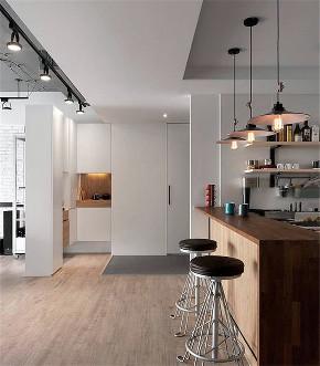 简约 工业 二居 三居 大户型 小资 80后 白领 厨房图片来自高度国际姚吉智在105平米清新工业风极简至美两居的分享