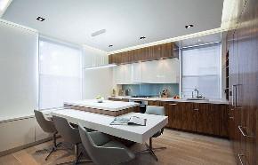 厨房图片来自家装大管家在精致又清爽 136平现代北欧3居室的分享