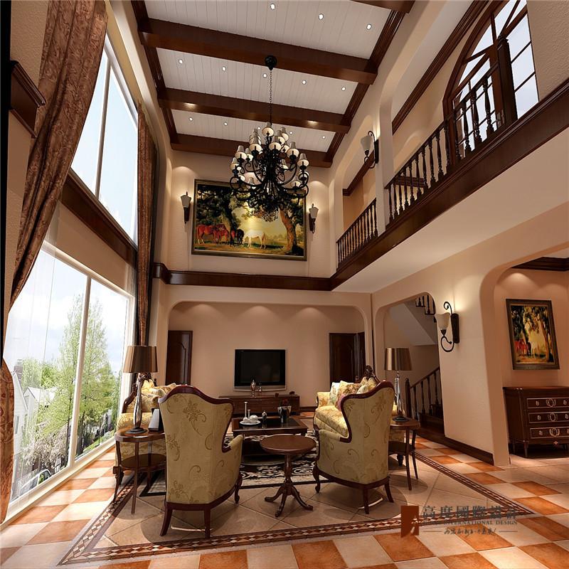 复式 跃层 高帅富 80后 客厅图片来自高度国际姚吉智在500㎡美式轻奢图片