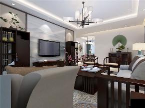 龙发装饰 现代中式 三居 室内装修 装修效果图 客厅图片来自龙发装饰天津公司在紫竹华庭三居现代中式风格的分享