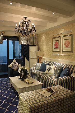 客厅图片来自天津生活家健康整体家装在香缇花园地中海的分享