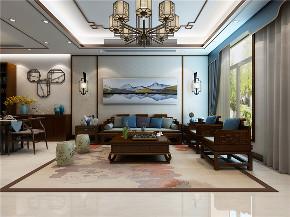 龙发装饰 中式 别墅装修 室内装修 装修效果图 客厅图片来自龙发装饰天津公司在宜禾一墅五居中式风格的分享