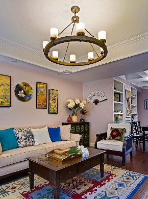 简约 混搭 三居 客厅图片来自众意装饰 李潇在华著中城128平美式混搭风格的分享