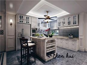 简约 别墅 简美 美式 厨房图片来自众意装饰 李潇在蔷薇溪谷260平简美风格案例的分享