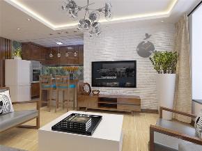两居室 三口之家 混搭 简约 温馨 客厅图片来自阳光力天装饰在力天装饰-尚佳新苑-120㎡-混搭的分享