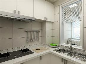 简约 美式 一居 榻榻米 石膏线 厨房图片来自阳光力天装饰在力天装饰-天房美域华庭-60㎡的分享