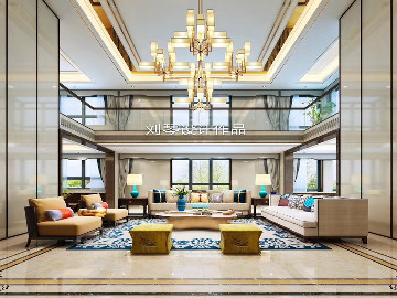 西安600平新中式别墅设计