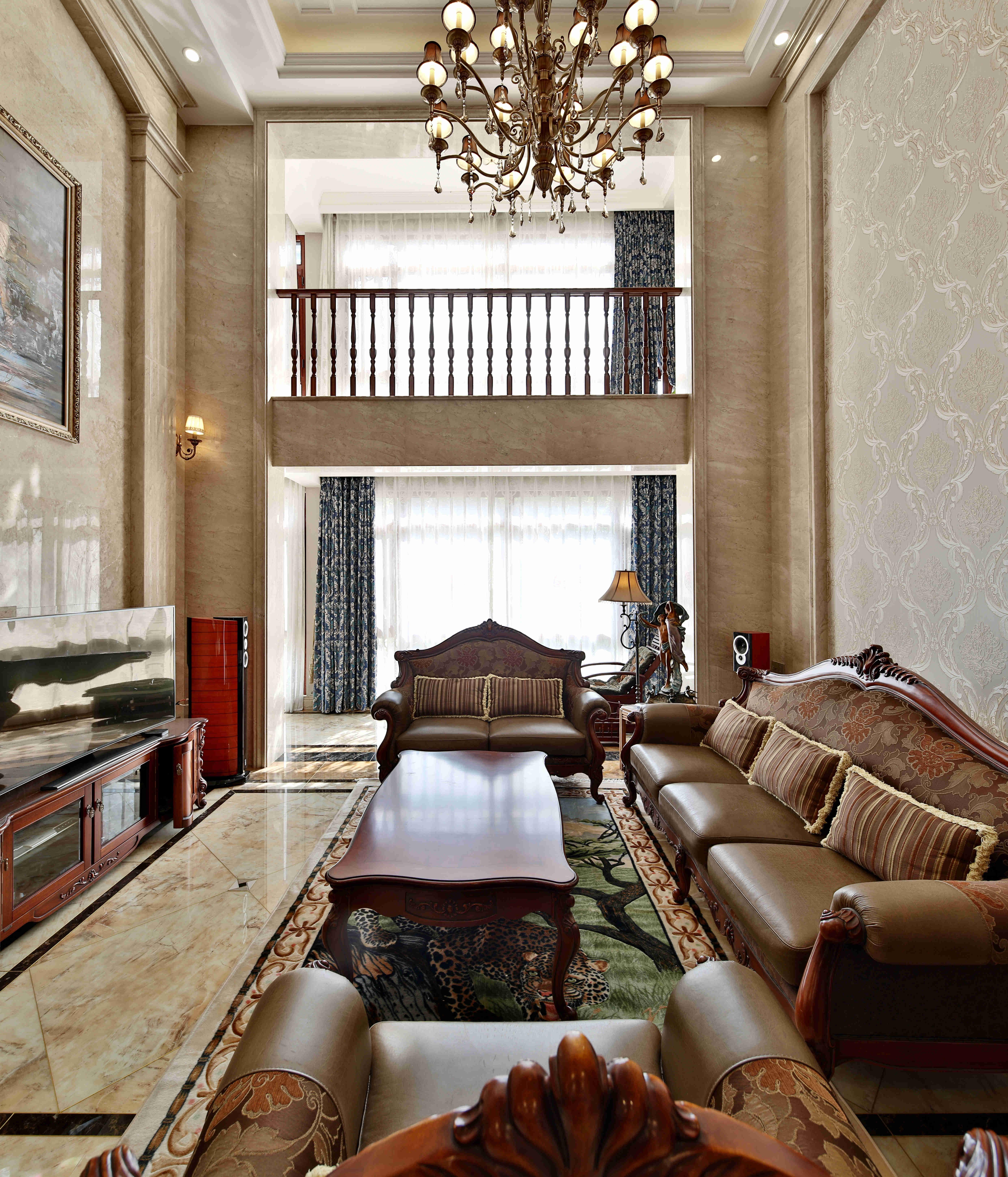 欧式别墅客厅装修效果图片_装修美图-新浪家居图片
