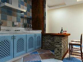 一居室 金泽花园 地中海 厨房图片来自阳光放扉er在力天装饰-金泽花园-65㎡的分享