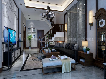 华贸东滩别墅项目装修设计