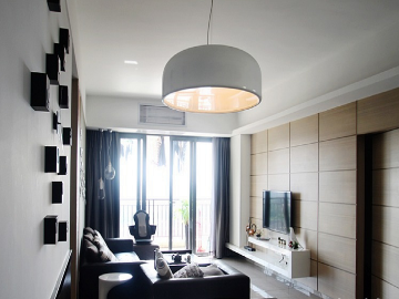 悦美国际三室123平现代简约风格