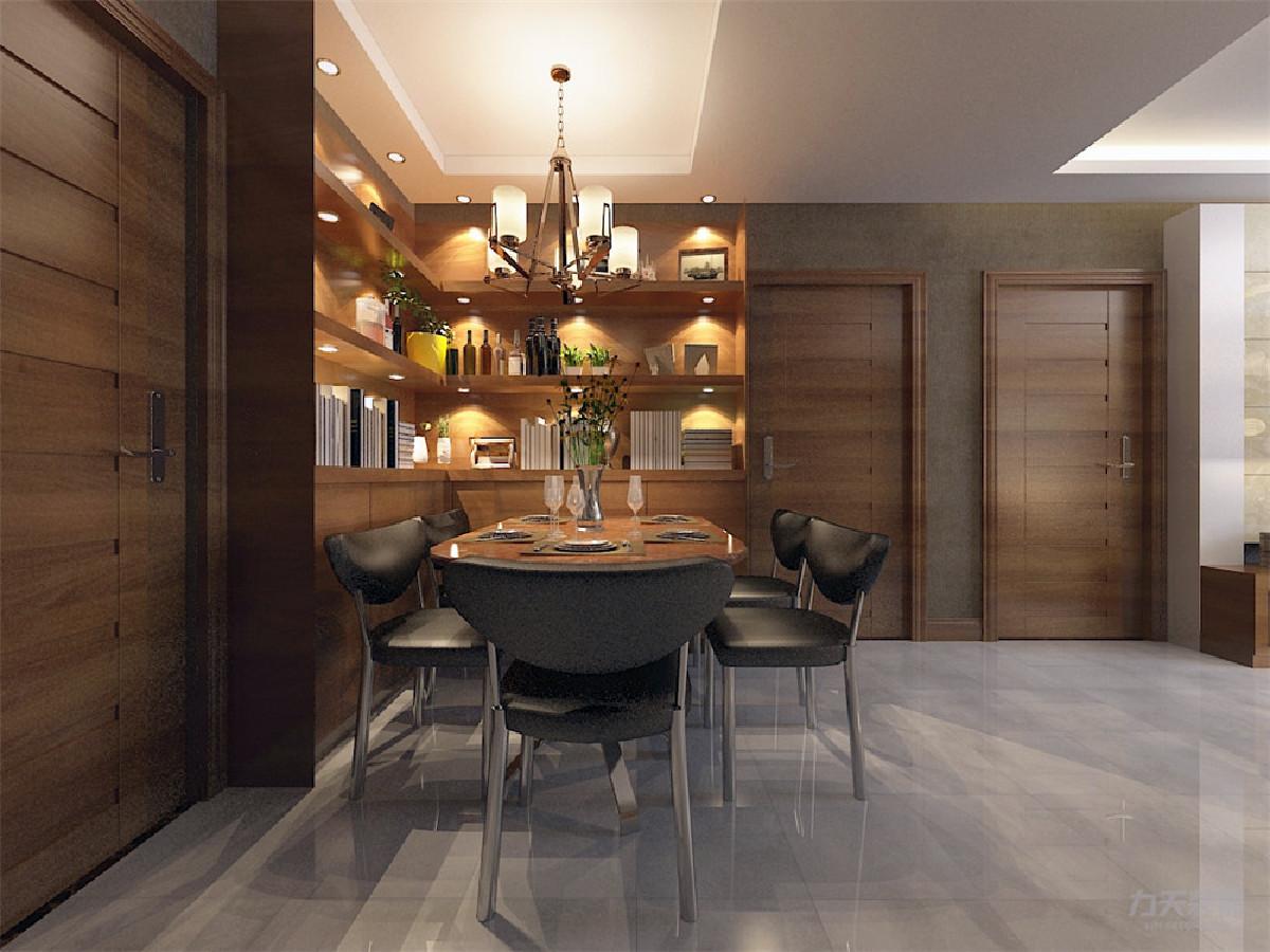 餐厅空与客厅紧密相连,所以这样更节省空间
