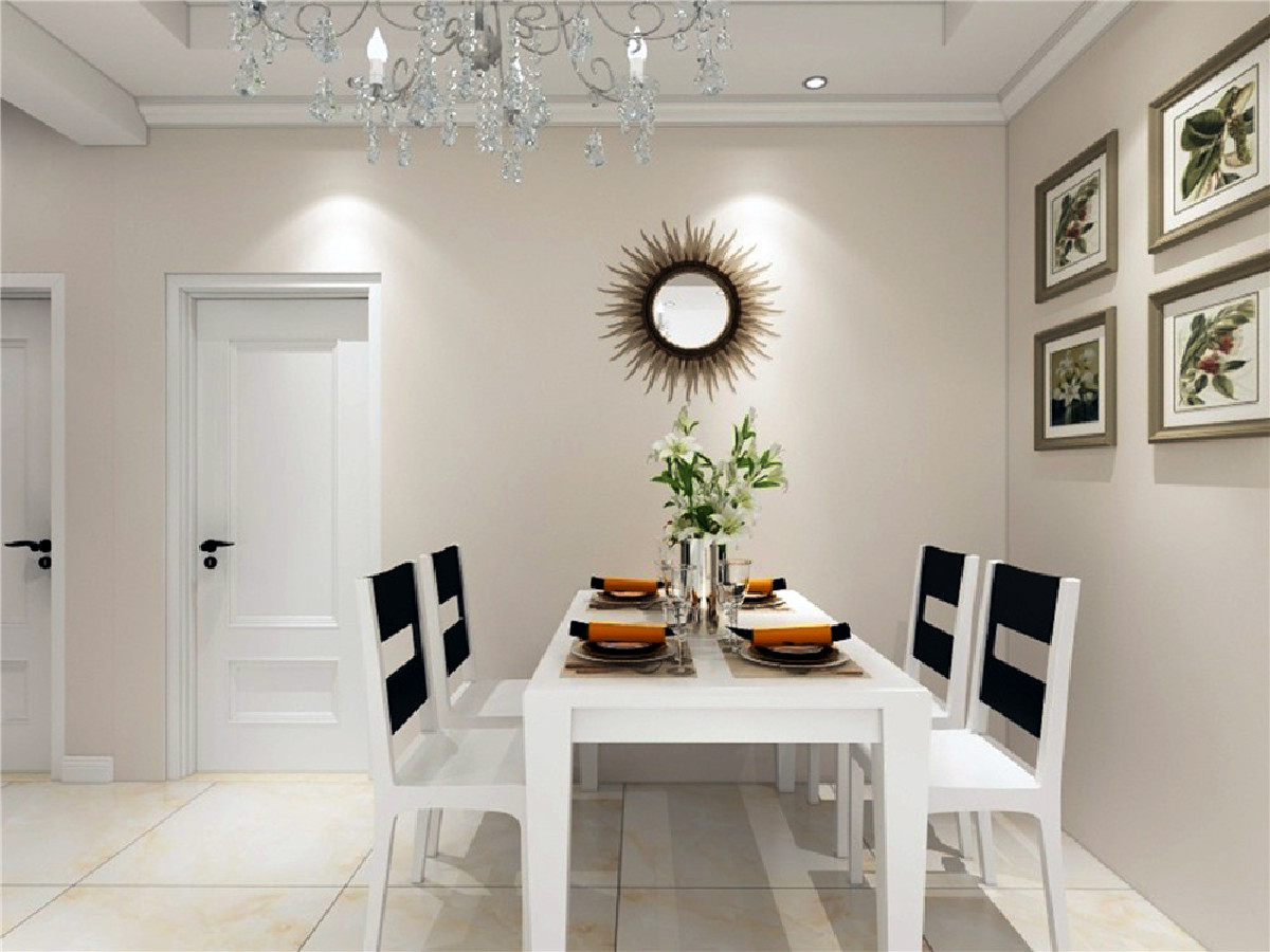 餐厅的位置离厨房的距离方便,  餐厅需要合理规划尺寸,空间南北通透,软装布局搭配业主喜欢的家具格局,采光还是能满足屋内需求的。